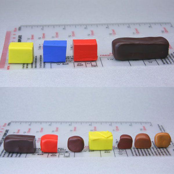 blending polymer clay colors for dolls house miniatures. Black Bedroom Furniture Sets. Home Design Ideas