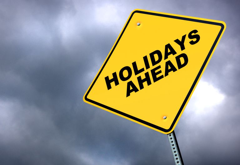 Road sign reading Holidays Ahead