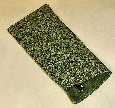 Eye Glass Case Made with Interfaced Cotton Fabric and Flannel Lining