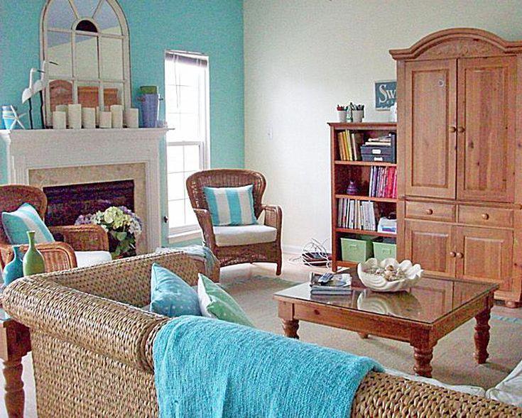 Beach Style Decor On A Budget - Coastal style living room furniture