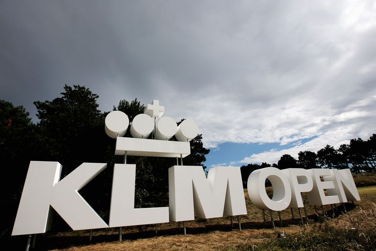 KLM Open sign at the tournament in 2013