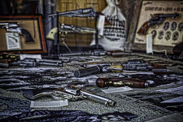 Antique gun shop in Leadville, Colorado