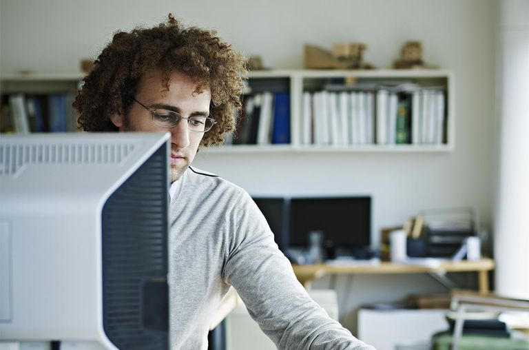Businessman sitting at desk