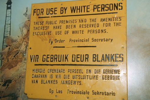 South African Apartheid-era sign
