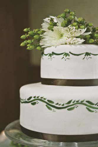 Inspiring tales of diy wedding cakes a diy wedding cake with painted fondant junglespirit Gallery