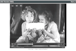 Screenshot of the movie Dora's Dunkin Donuts on Internet Archive Movie Archive