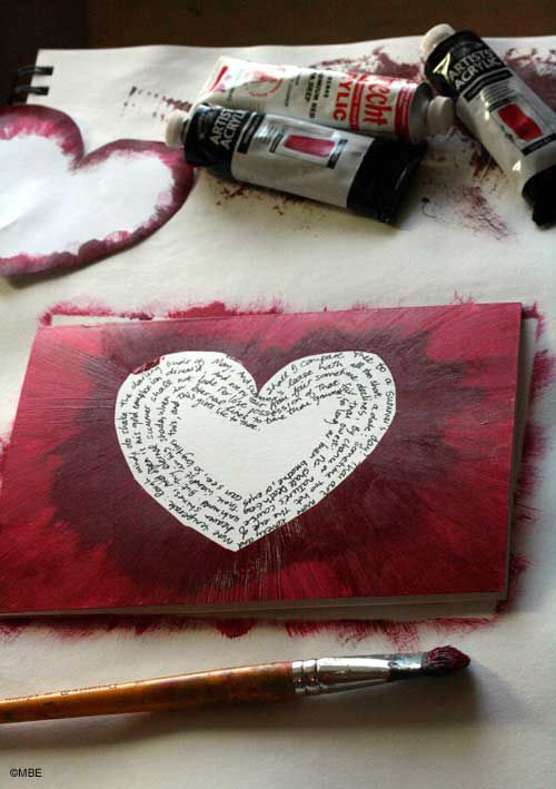 How to Paint a Quick Valentines Day Card With a Secret Message – Valentines Card Photos