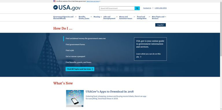 USA.gov is the US Government's collection of databases that contain all manner of information.