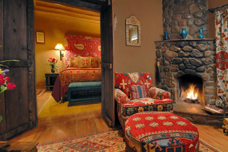 Hotel suite at The Inn of the Five Graces in Santa Fe