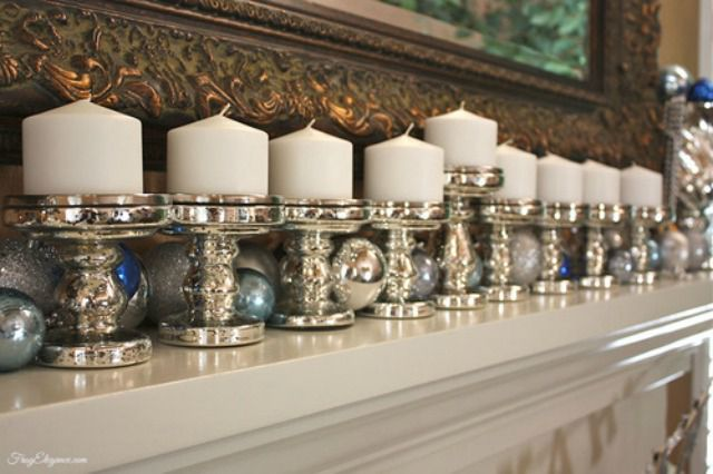 pillar candle menorah