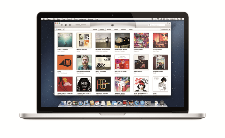 View of the iTunes Store