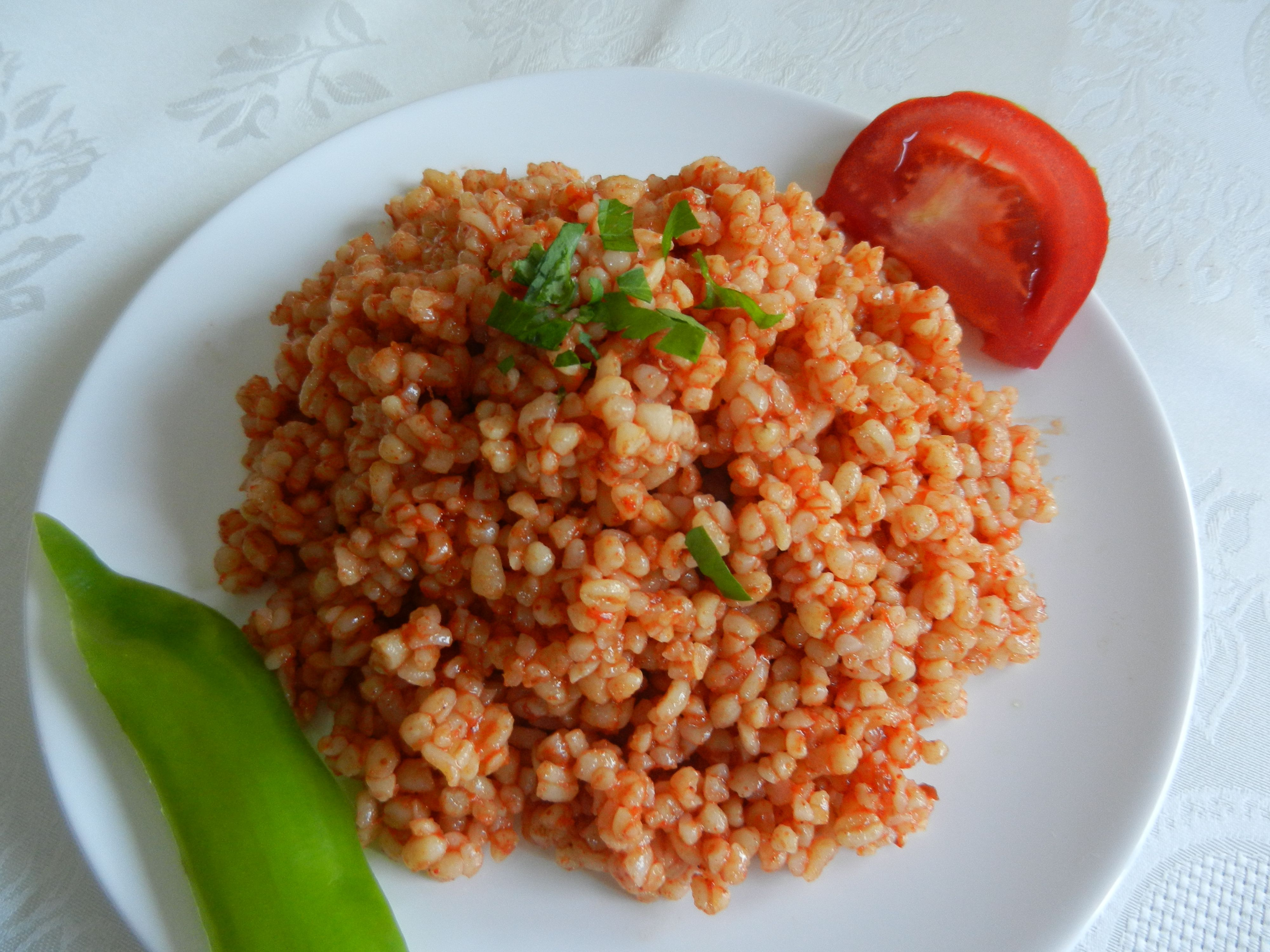 Middle Eastern Home Decor Turkish Bulgur And Vegetable Pilaf Recipe