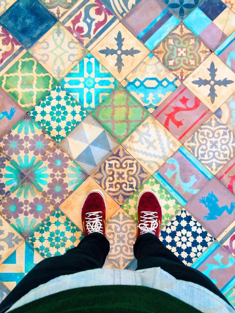 Multicolored Tile Floors