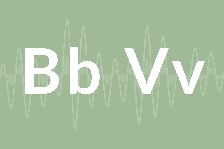 """The letters """"B"""" and """"V"""""""