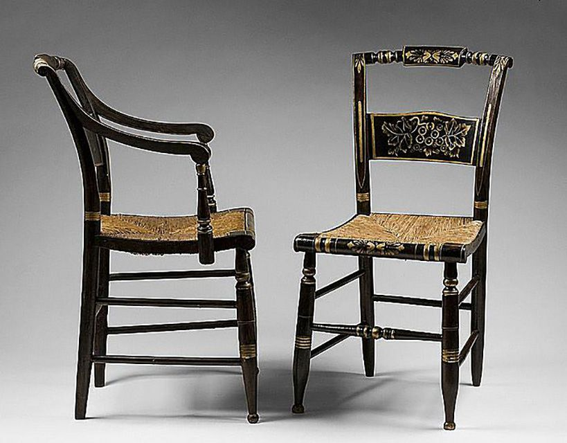 Hitchcock Chair Profile and Front Veiws
