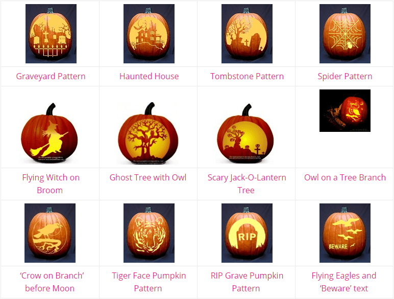 Free Pumpkin Carving Stencils, Patterns, and Ideas