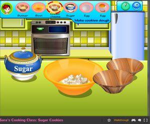 Making virtual sugar cookies