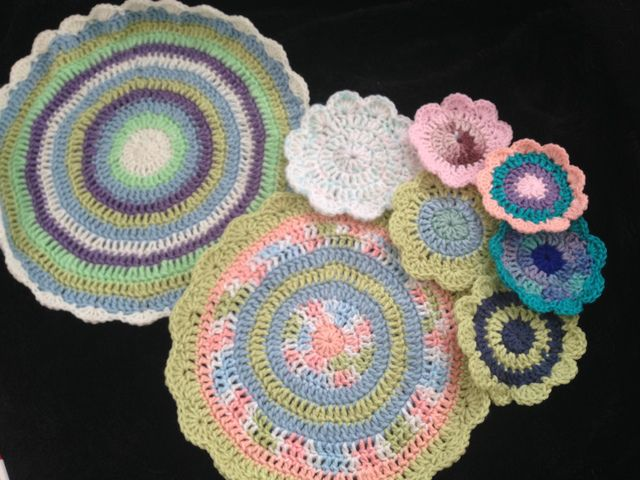 Big and Small Crochet Mandalas