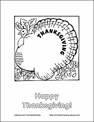 Thanksgiving Coloring Page - Thanksgiving Turkey