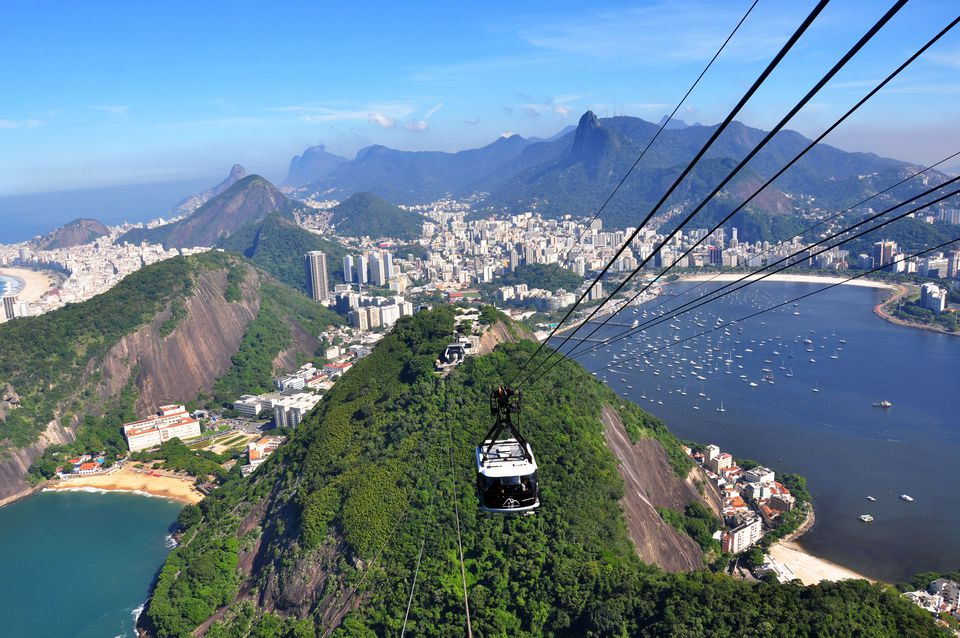 Sugarloaf cable car in Brazil