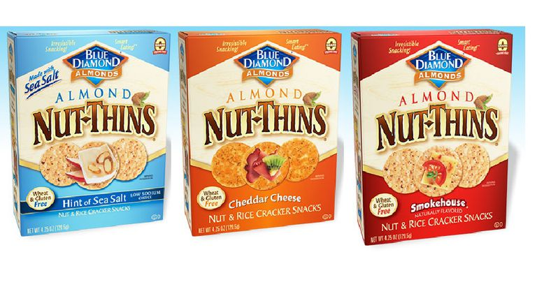 Blue Diamond Nut Thins - three varieties
