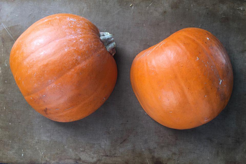 Pumpkins Prepped to Roast