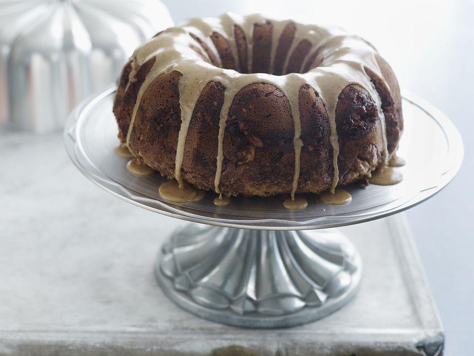 Cranberry Walnut Espresso Cake
