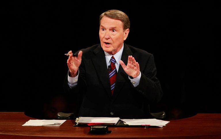 Jim Lehrer of PBS