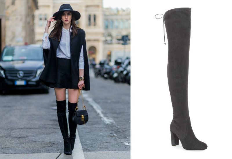 Dress with Knee Boots