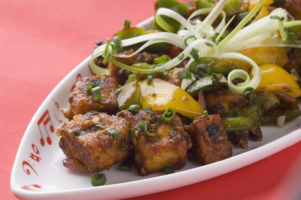 chilli paneer recipe stir fried cottage cheese