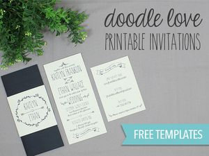 Free Wedding Invitation Templates You Can Customize - Wedding invitation templates: wedding invitation suite templates