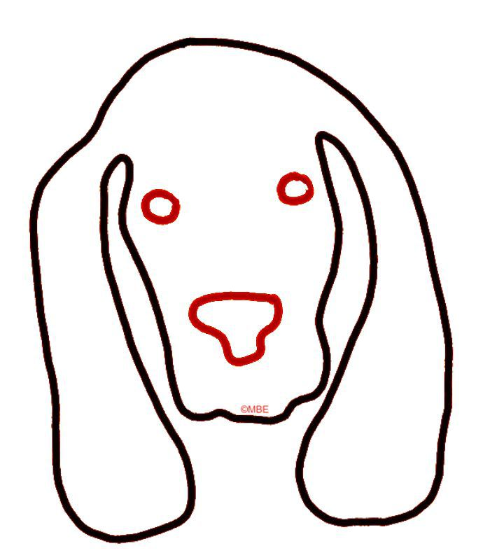 Free Dog Stencils Collection: Dog 1