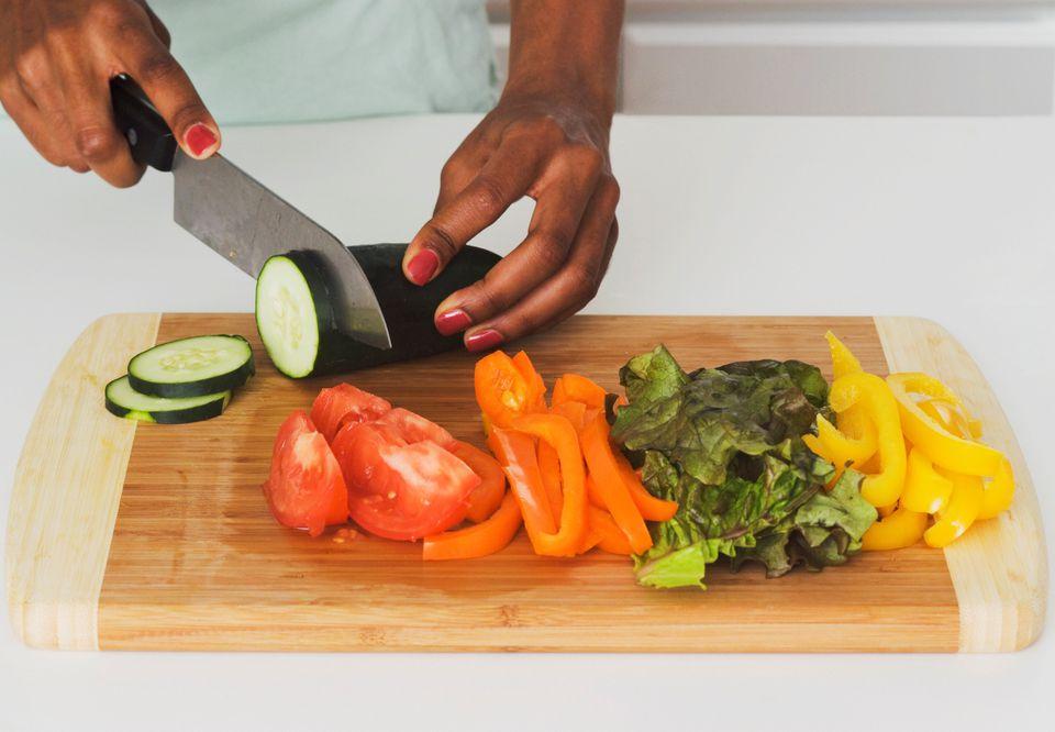 Raw vegan food preparation
