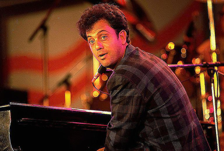 Billy Joel performing.