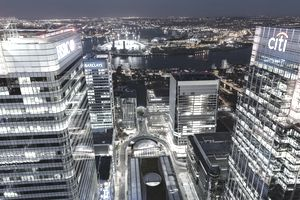 Canary Wharf night view