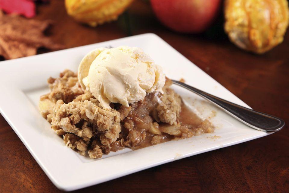 Apple Crisp and Ice Cream