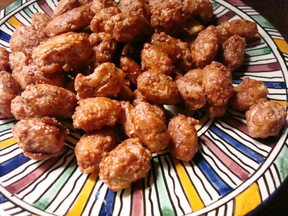 caramelized sugar-coated peanuts