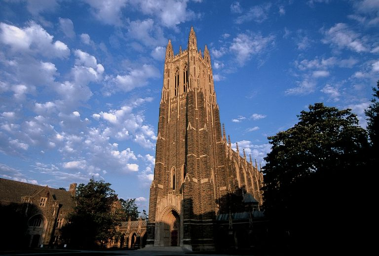 Duke University Chapel at sunrise
