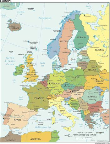 maps of northern european countries visited by cruise ships