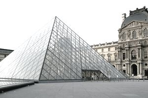 Early Morning View Of The Glass Pyramid