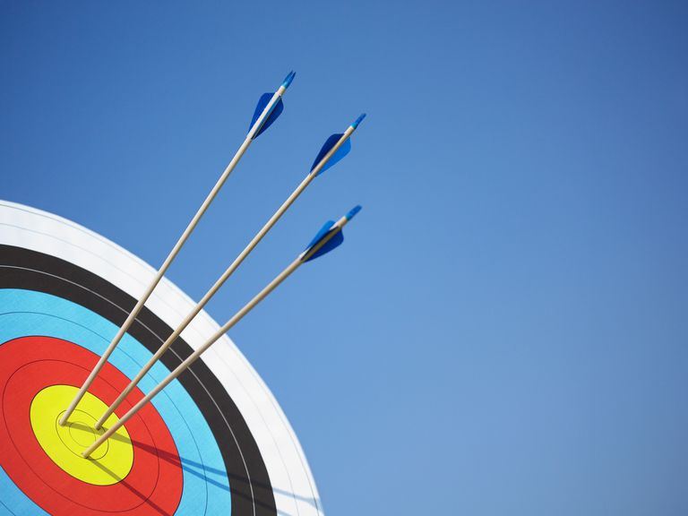 Accuracy is defined as coming close to a true or desired value, like the center of a bullseye. For the values to also be precise, they would need to be very close to each other (whether or not they hit the mark).