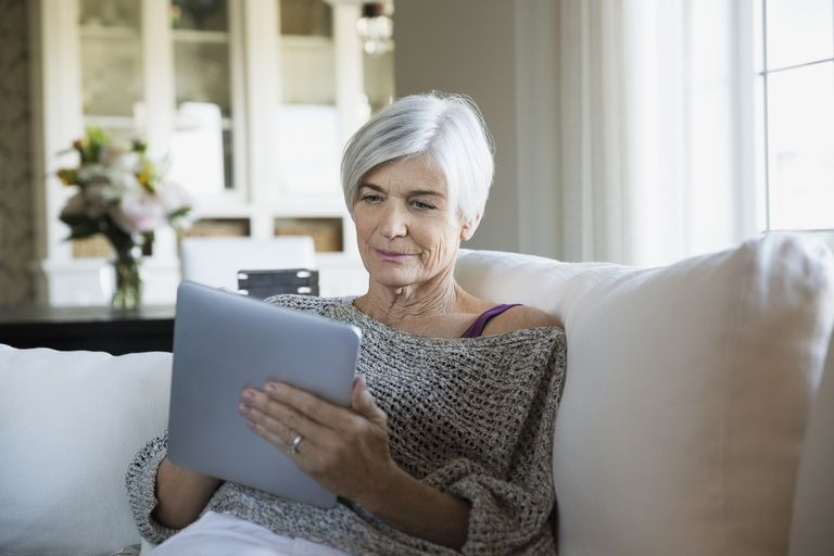 Senior Woman Using a Tablet