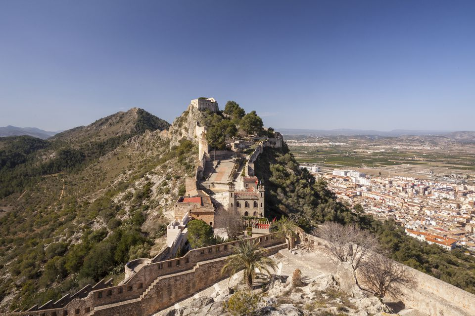 The old castle above Xativa, Spain.