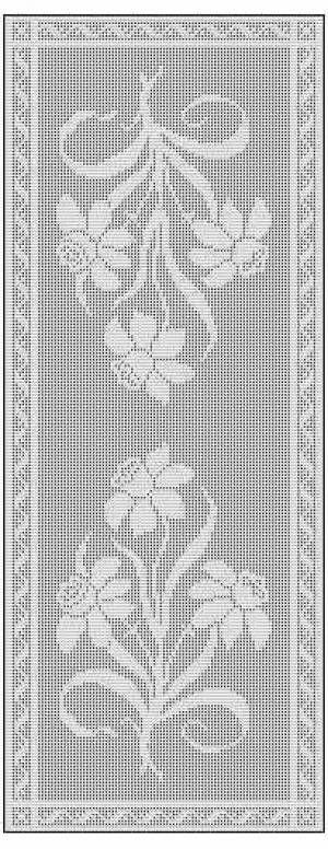 Crochet Rose Filet Chart