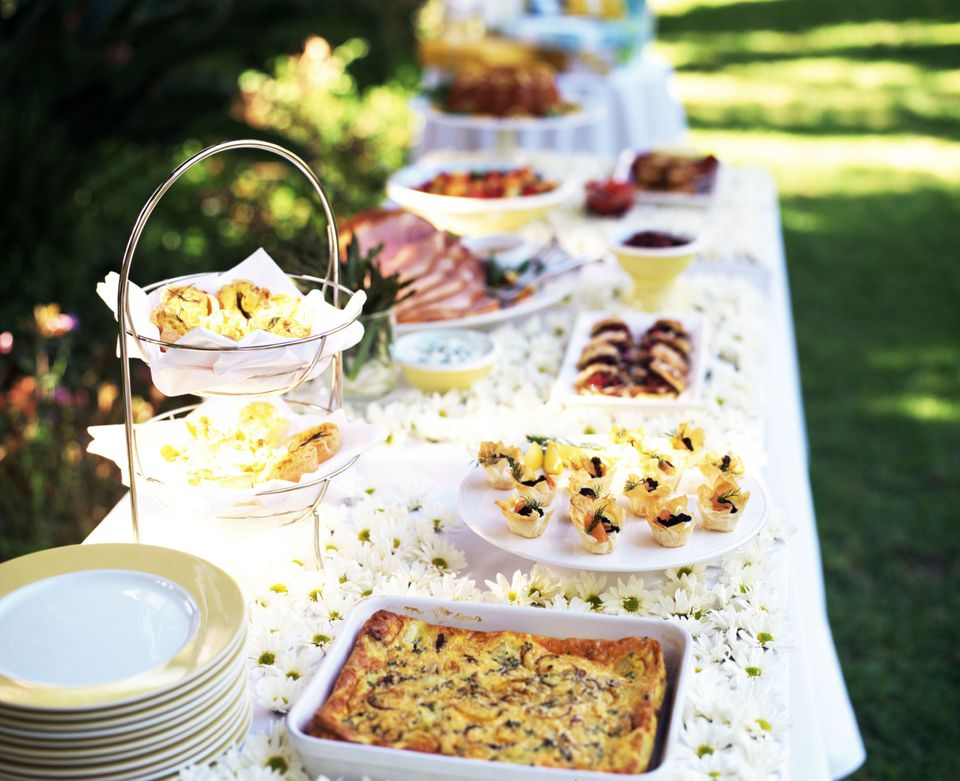 brunch wedding buffet table