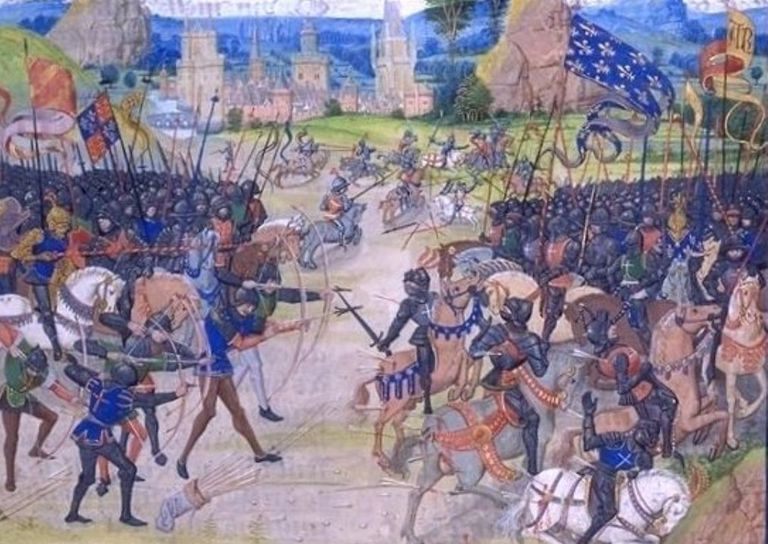 Fighting at Poitiers