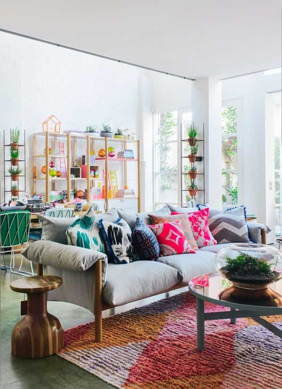 green living room designs. Living room with colorful throw pillows Top 10 Ways to Add Color a Room