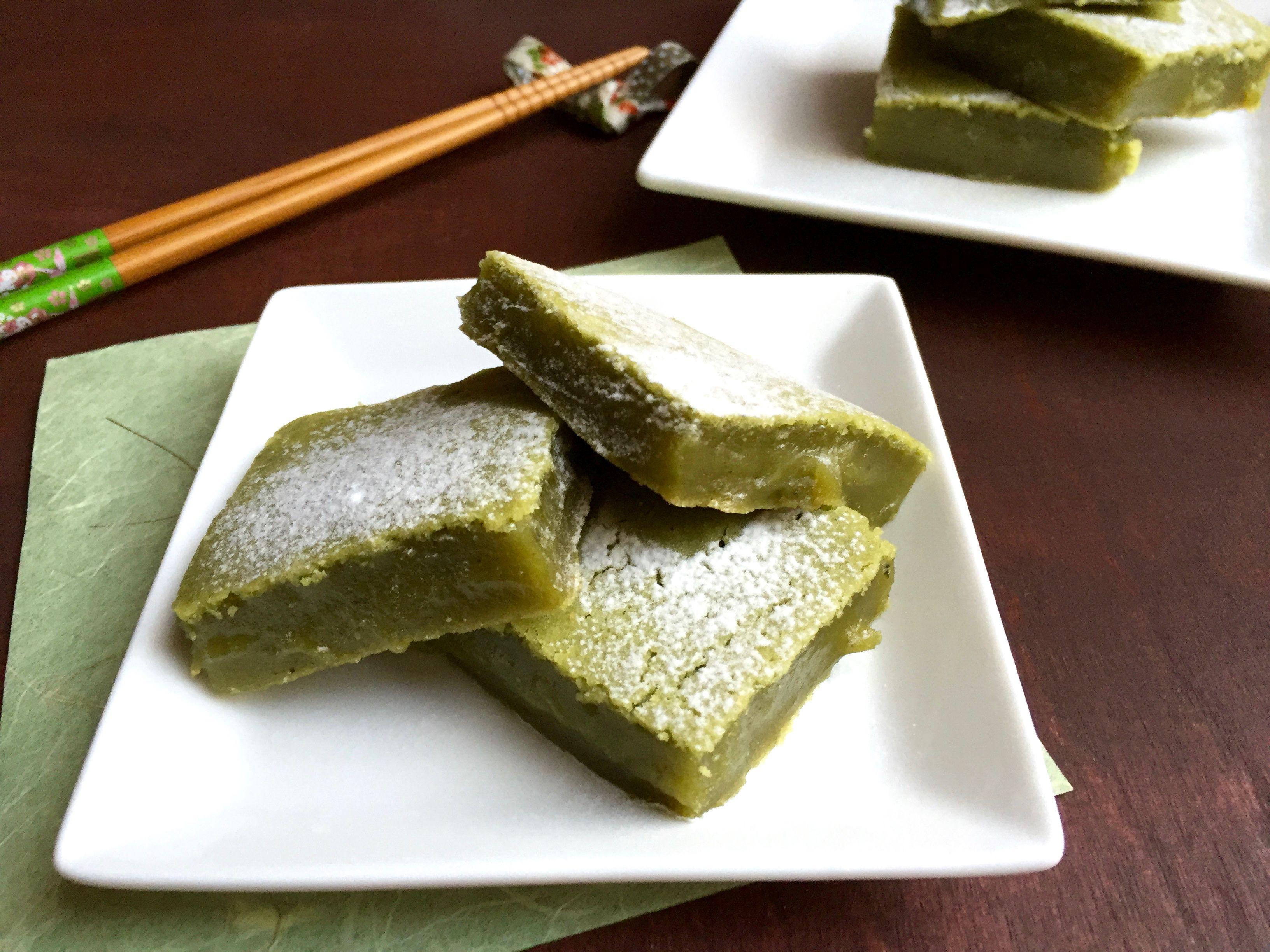 Matcha Green Tea Mochi Rice Cake Bars