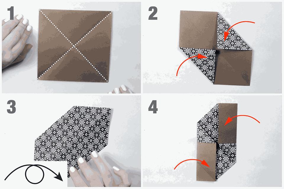 easy origami pinwheel tutorial