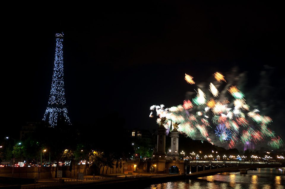 Paris in January: always a celebration.